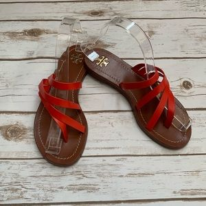 Tory Burch Strappy Leather Sandals Thong Slides